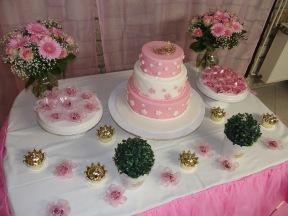 Mesa do bolo: visao de cima